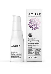 Acure Radically Rejuvenating Rose Argan Oil, 1 Fluid Ounce (Packaging May Vary)