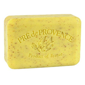 Pre de Provence Artisanal French Soap Bar Enriched with Shea Butter, Quad-Milled For A Smooth & Rich Lather (250 grams) - Lemongrass
