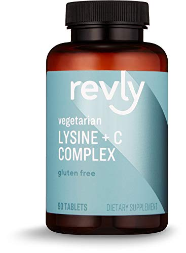 Amazon Brand - Revly Lysine + C Complex, 90 Tablets, 45 Servings