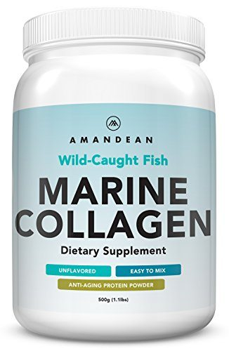 Premium Anti-Aging Marine Collagen Powder 17.6 Oz | Wild-Caught Hydrolyzed Fish Collagen Peptides | Type 1 & 3 Collagen Protein Supplement | Amino Acids for Skin, Hair, Nails | Paleo Friendly, Non-GMO