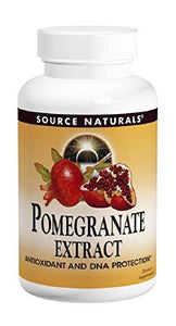 Source Naturals Pomegranate Extract 500mg Complete Whole Fruit Ellagic Acid Powerful Antioxidant & Immune Boosting Vitamin & Anti-Inflammatory - Supports Healthy Blood Pressue & Cholesterol For Overall Cell Health & Added Fiber - 240 Tablets