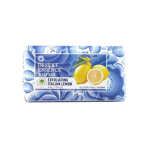 Desert Essence Bar Soap, Exfoliating Italian Lemon, 5 Ounce