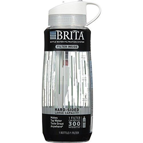 Brita Hard Sided Water Filter Bottle, 34-Ounce, Clear Accessory Brita