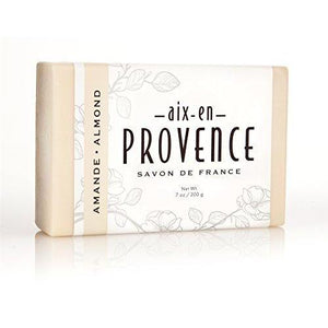 Aix en Provence Triple Milled Shea Butter Enriched Artisanal French Soap Bar (200 g) - Amande