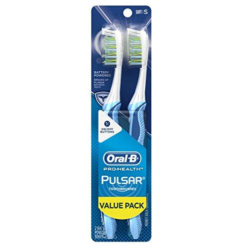 Oral-B Pulsar Soft Bristle Toothbrush Twin Pack (Colors May Vary)