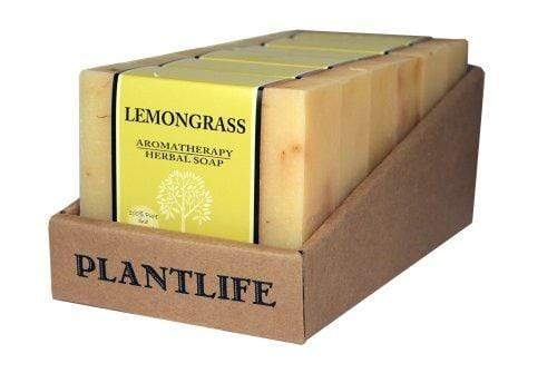 Value 6 Pack- Lemongrass 100% Pure & Natural Aromatherapy Herbal Soap- 4 oz each