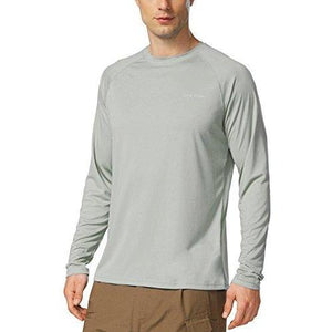 Baleaf Men's UPF 50+ Outdoor Running Long Sleeve T-Shirt Gray Size XL