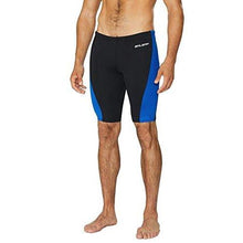 Baleaf Men's Durable Training Polyester Jammer Swimsuit Black/Blue Size 32