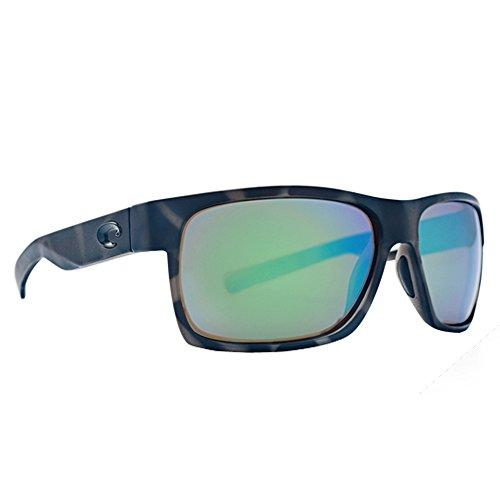 Costa Del Mar HFM140OGMGLP Half Moon Sunglass, Tiger Shark Ocearch Green Mirror
