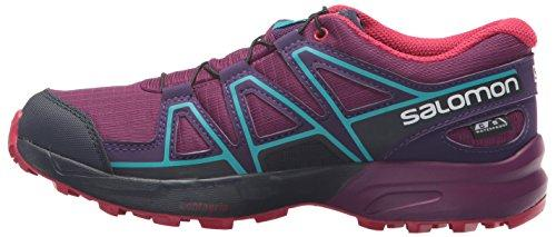 Salomon Unisex Speedcross CSWP J Trail Running Shoe, Grape Juice, 6 M US Big Kid