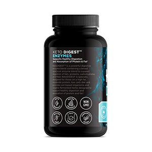 Ancient Nutrition KetoDIGEST Digestive Enzyme Supplement, 180 Capsules — Supports Healthy Digestion for The Keto Diet