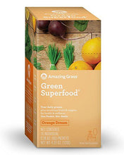 Amazing Grass Green Superfood Organic Powder with Wheat Grass and Greens, Flavor: Orange Dream, Box of 15 Individual Servings