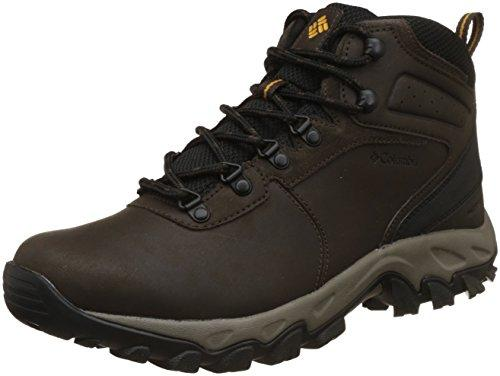 Columbia Men's Newton Ridge Plus II Waterproof Hiking Boot, Cordovan/Squash, 11 D US