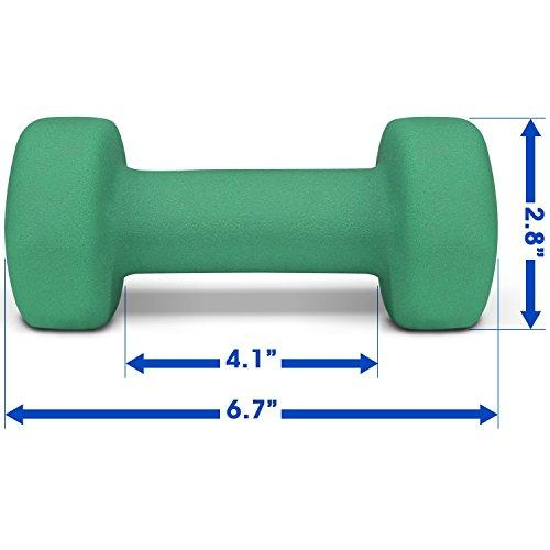 5 lbs Dumbbells Neoprene with Non Slip Grip – Great for Total Body Workout – Total Weight: 10 lbs (Set of 2) Sport & Recreation Yes4All