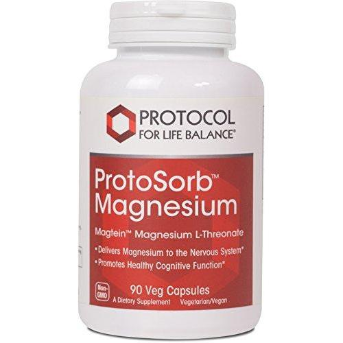 Protocol For Life Balance - ProtoSorb Magnesium - Supports Nervous System and Healthy Cognitive Function with Enhanced Absorption Formula - 90 Veg Capsules Supplement Protocol For Life Balance