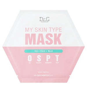 Dr.G My Skin Type Mask Sheet OSPT(Oily, Sensitive, Pigmented, Tight) Type 25ml 10pcs Set