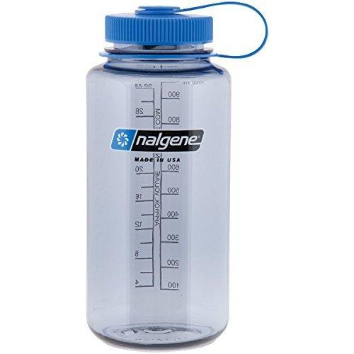 Nalgene Tritan Wide Mouth BPA-Free Water Bottle, Gray/Blue Lid, 1 Quart Sport & Recreation Nalgene