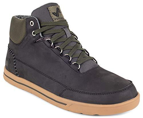 Forsake Phil Mid - Men's Waterproof Leather Mid-Top (12 D(M), Black)