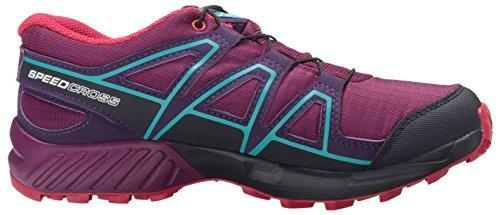 Salomon Unisex Speedcross CSWP J Trail Running Shoe, Grape Juice, 1 M US Big Kid