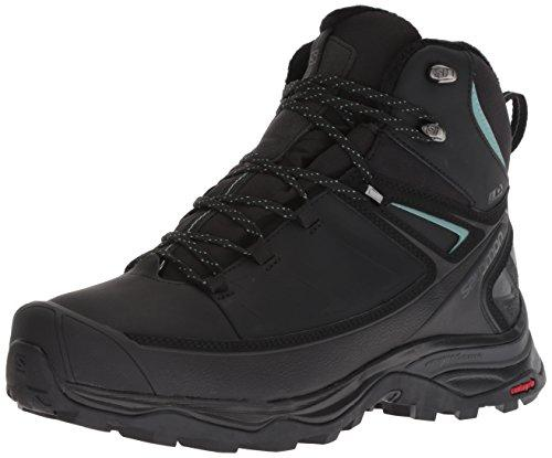 Salomon Women's X Ultra Mid Winter CS Waterproof W Hiking Boot, Black/Phantom/Trellis, 6.5 D US