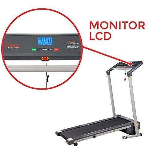 Sunny Health & Fitness SF-T7632 Space Saving Folding Treadmill w/LCD Display Sport & Recreation Sunny Health & Fitness