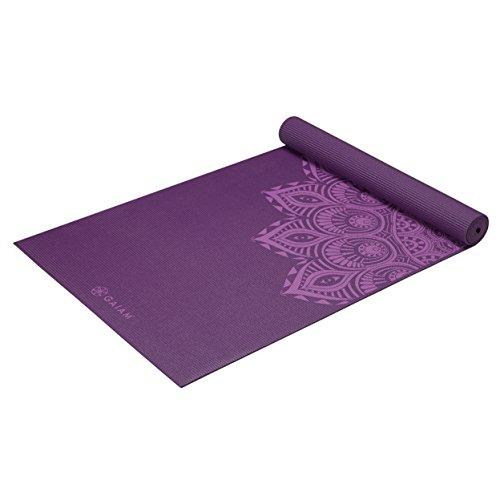 Premium Print Yoga Mat, Purple Mandala Accessory Gaiam
