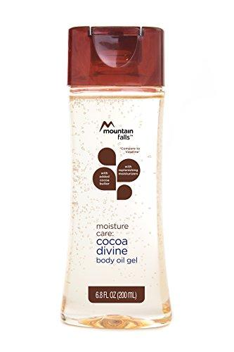 Mountain Falls Moisture Care: Body Oil Gel with Added Cocoa Butter and Replenishing Moisturizers, Cocoa Divine, Compare to Vaseline, 6.8 Fluid Ounce (Pack of 4)