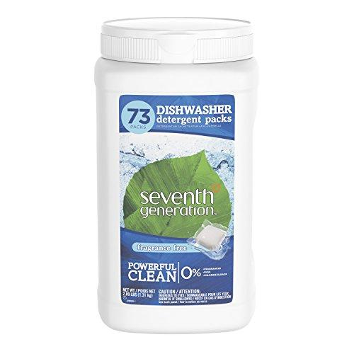 Seventh Generation Dishwasher Detergent Packs, Fragrance Free, 73 count