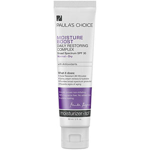 Paula's Choice Moisture Boost Daily Restoring Complex SPF 30 Moisturizer + Antioxidants, 2 Ounce Bottle, Sunscreen for the facefor Normal to Dry Skin