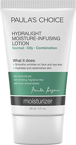 Paula's Choice Hydralight Moisture-Infusing Lotion Moisturizer, 2 Ounce Bottle, Lightweight Moisturizer for Sensitive Oily Skin