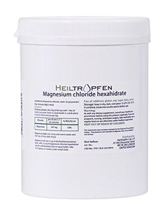 2 Pounds Magnesium Chloride, Hexahydrate, Pharmaceutical Grade, Crystal Powder, Pure Ph. EUR, BP, USP, 100% - Heiltropfen