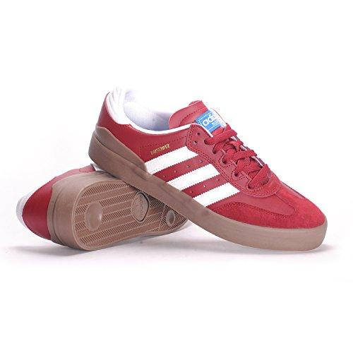 adidas Busenitz Vulc RX (Collegiate Burgundy/White/Gum) Men's Skate Shoes-9.5