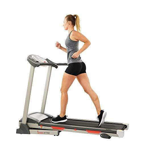 Sunny Health & Fitness SF-T7603 Electric Treadmill w/ 9 Programs, 3 Manual Incline, Easy Handrail Controls & Preset Button Speeds, Soft Drop System Sports Sunny Health & Fitness