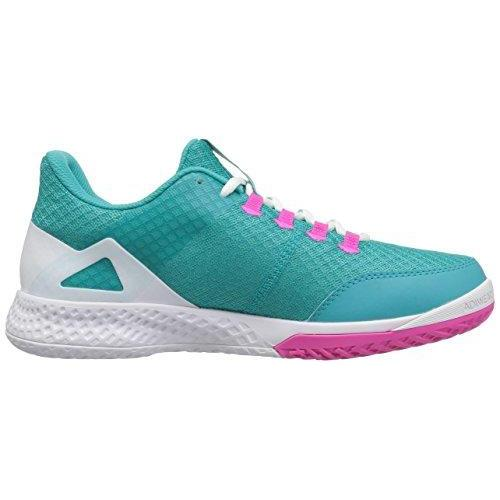 adidas Women's Adizero Club 2 Tennis Shoe, Hi-Res Aqua/White/Shock Pink, 8 M US