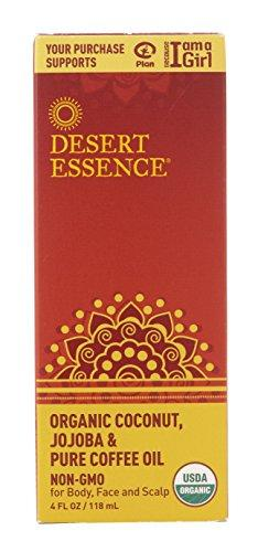 Desert Essence Organic Coconut with Jojoba and Pure Coffee Oil - 4 fl oz