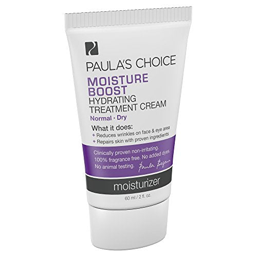 Paula's Choice Moisture Boost Hydrating Treatment Cream Moisturizer with Niacinamide, 2 Ounce Bottle, Moisturizer for the Face for Normal/Dry Skin