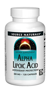 Source Naturals Alpha Lipoic Acid 300mg Antioxidant Protection Supports Cellular Health, Healthy Blood Sugar Levels and Healthy Weight Management - 120 Capsules