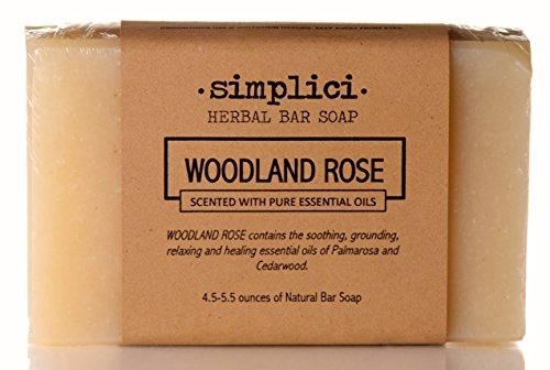 SIMPLICI Woodland Rose Bar Soap (scented with pure essential oils)
