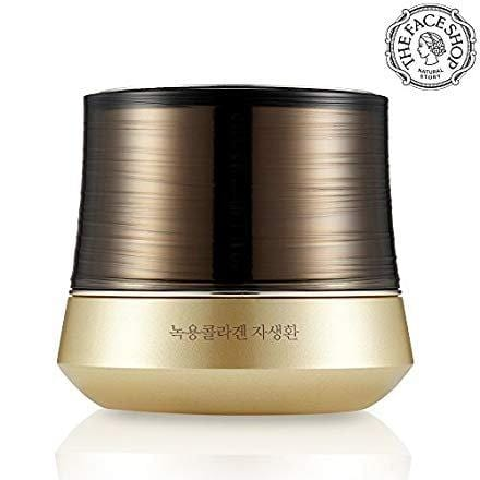 The Face Shop Yehwadam Nokyong Collagen Contour Lift Gold Capsule Cream, Premium Skin Care Traditional Korean Herbs And Flowers For Anti-Aging Treatment (50mL/1.69 Oz)