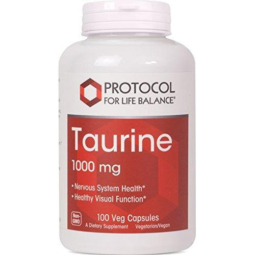 Protocol For Life Balance - Taurine 1,000 mg - Supports Nervous System, Physiological Response, and Healthy Visual Function - 100 Veg Capsules Supplement Protocol For Life Balance