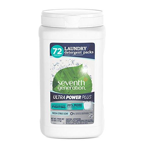 Seventh Generation Laundry Detergent Ultra Power Plus, Fresh Citrus, 72 Count Laundry Detergent Seventh Generation