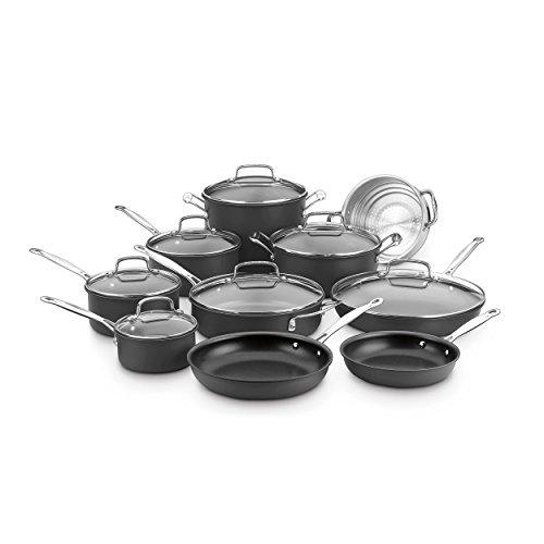 Cuisinart 66-17N Chef's Classic Non-Stick Hard Anodized, 17 Piece Set, Black Kitchen & Dining Cuisinart
