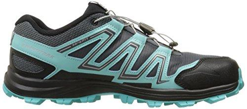 Salomon Women's Speedtrak W Trail Runner, Dark Cloud/Light Onix/Bubble Blue, 9 M US