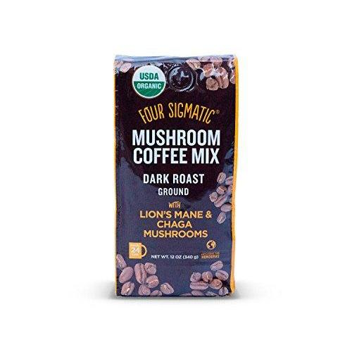 Mushroom Ground Coffee with Chaga and Lion's Mane mushrooms Food & Drink Four Sigmatic