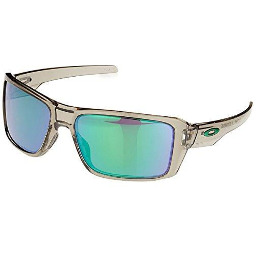 Oakley Men's Double Edge Non-Polarized Iridium Rectangular Sunglasses, Grey Ink, 66 mm