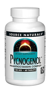 Source Naturals Pycnogenol 100mg, Antioxidant & Anti-Inflammatory Complex - 60 Tablets