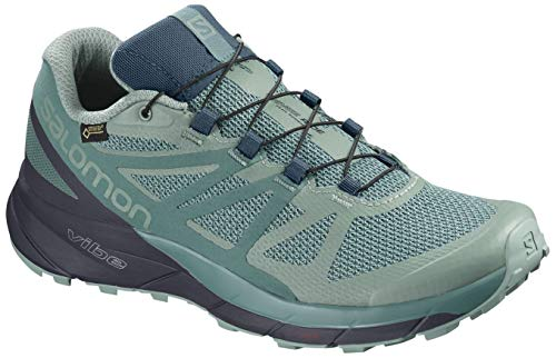 Salomon Sense Ride GTX Invisible Fit Trail Running Shoes - Women's Trellis/Graphite/Hydro 6