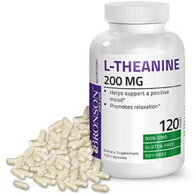Bronson L-Theanine 200mg Non-GMO Gluten Free Soy Free Formula, 120 Vegetarian Capsules