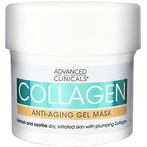 Advanced Clinicals Collagen Skin Care Set. 16oz Collagen Cream, Plumping Collagen Serum, and Collagen Mask. Anti-aging skin care set for fine lines, wrinkles, helps firm and plump skin.