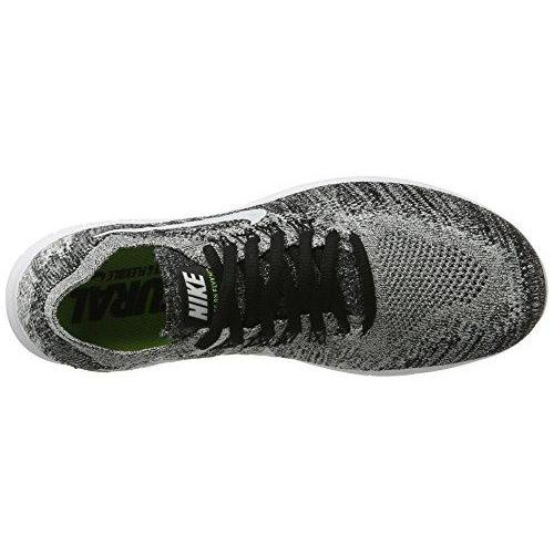 3714a512e24 ... NIKE Womens Free RN Flyknit 2017 Running Shoes Black Volt White  880844-003